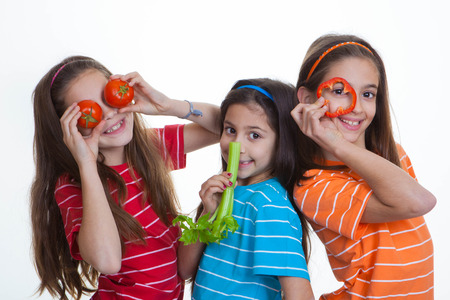 kids eating healthy eating diet Stock Photo