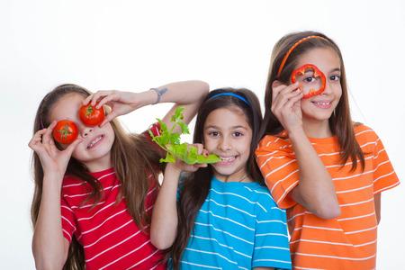 children eating healthy diet Standard-Bild