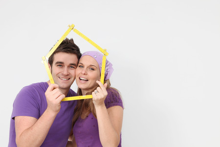 real estate concept young people new first home photo