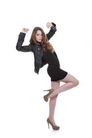 confident fashion teen posing photo