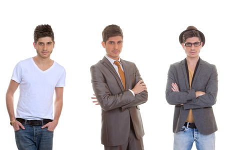 fashion man, different mens styles, outfits, clothes. Stock fotó - 39240263