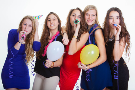 new years eve party celebrations Stock Photo