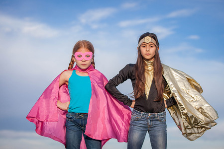 girl power, super heroes or superheroes Stock Photo - 39239892