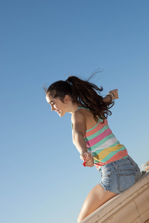 outstretched: teen arms outstretched for vacations ummer freedom