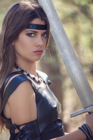 fantasy fiction: woman with sword, cosplay fantasy fiction