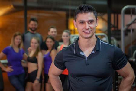 sports  club with personal trainer or instructor