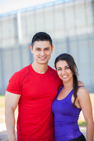 fit healthy athletic couple Stock fotó