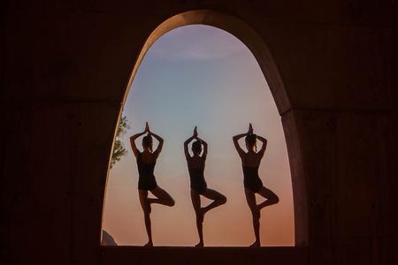yoga meditation outdoors Stockfoto