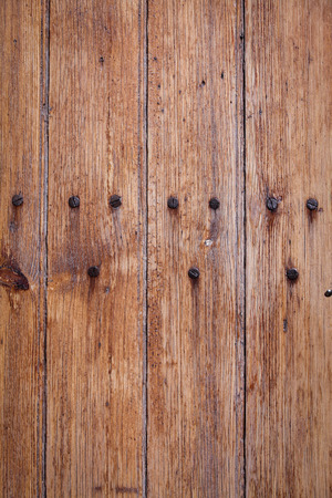 grained: wood grained plank background Stock Photo