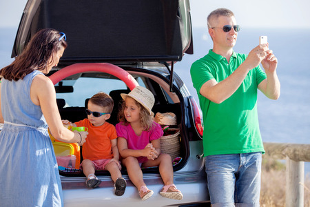 day trip: road trip, young family summer vacation or holiday