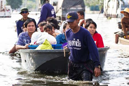 zware overstromingen in Thailand