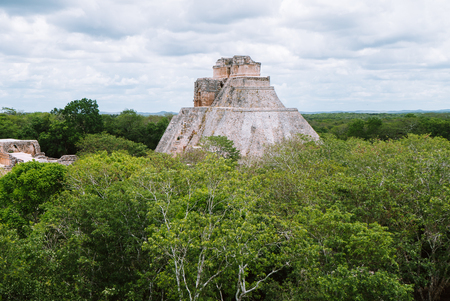 The Pyramid of the Magician in Uxmal, Yucatan, Mexico