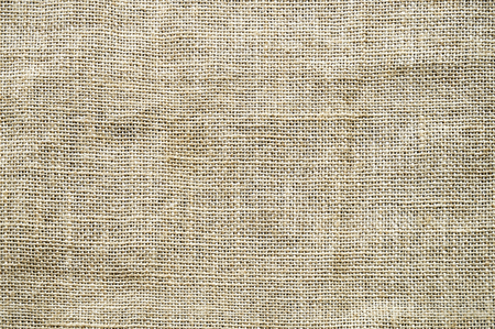 Close-up sack cloth background texture. Brown burlap texture for background. Stock Photo