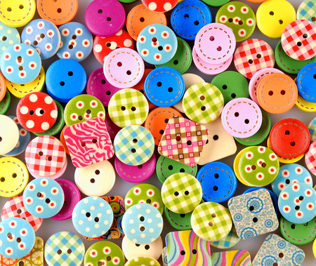 Sewing buttons background photo