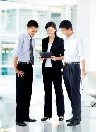 staff training: Discuss the work Stock Photo