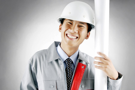 drawing safety: Construction workers portrait