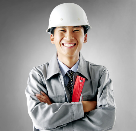 Construction workers portrait photo