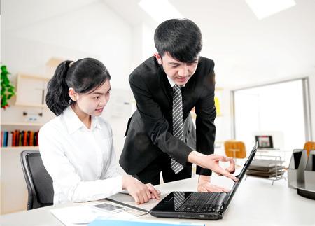 chinese people: Office staff training Stock Photo