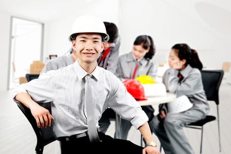 asian architect: A construction team