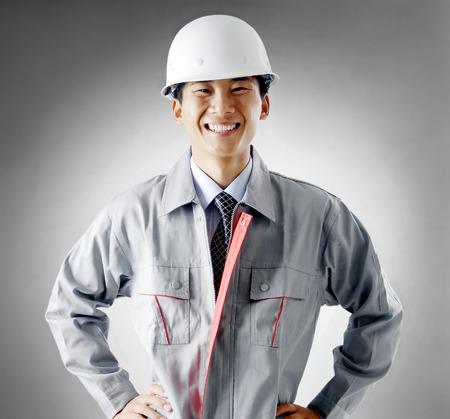 control de calidad: Trabajadores de la construcci�n retrato