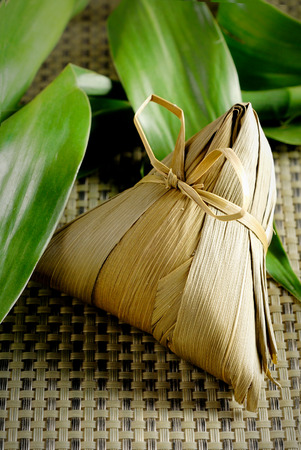 traditional wrapped rice dumplings photo