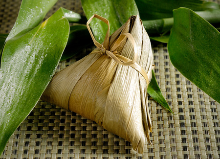 wrapped: traditional wrapped rice dumplings