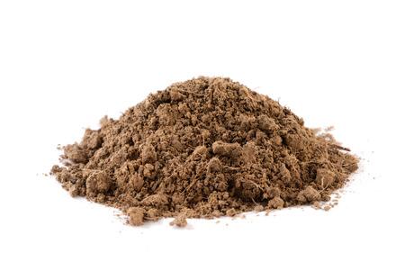 dirt pile: pile dirt of soil on white background