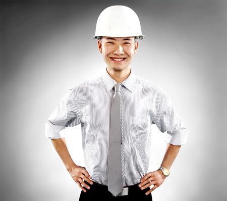 asian architect: Construction workers portrait