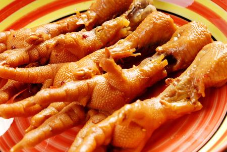 Cooking chicken feet photo
