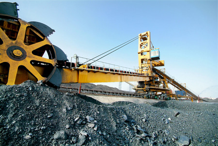 carbone: Carbone lavoro lavatrice in miniera Archivio Fotografico