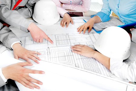 architect office: A construction team