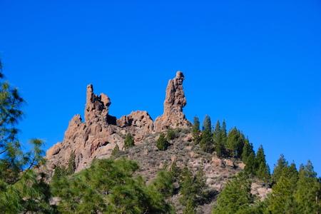 Formation de roche volcanique au Roque Nublo, Gran Canaria, Espagne