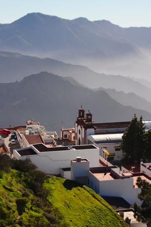 Mountain Village Artenara, Gran Canaria, Spain Stock Photo