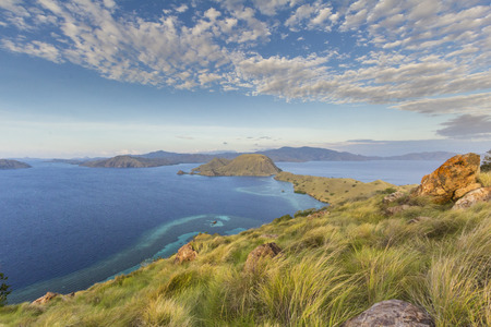 komodo island: Komodo island view from top Stock Photo
