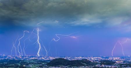thunderstorm: Thunderstorm Lightning are coming Stock Photo