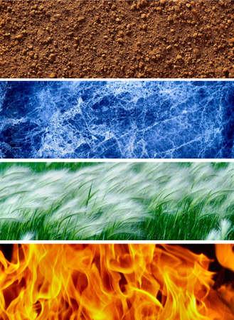 elementos: Cuatro elementos de la naturaleza # 1 Foto de archivo