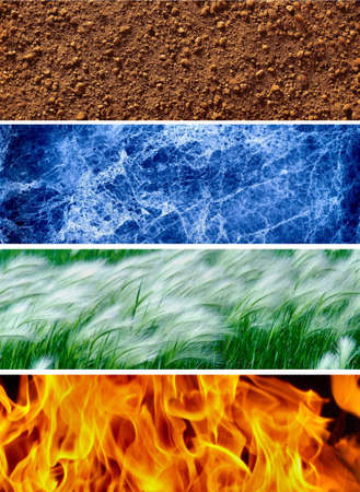 wind force: Four elements of the nature # 1 Stock Photo