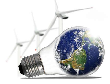 Ecological lamp Stock Photo