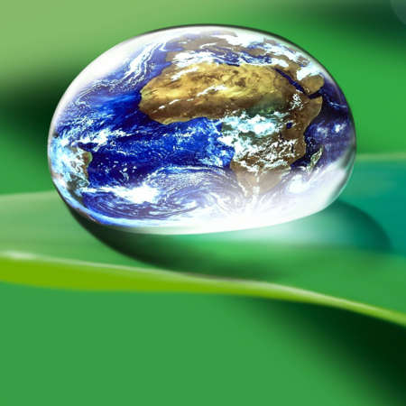 conscience: Globe in a drop Stock Photo