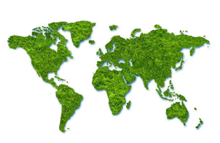 Green map globe