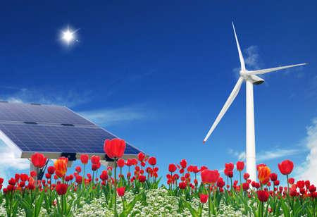 Clean energies Stock Photo