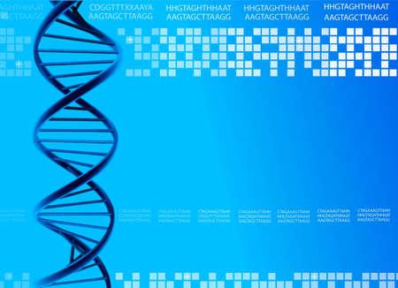 DNA Blue background