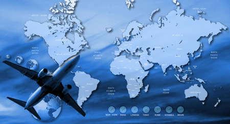 reiseb�ro: Reisen-Hintergrund  Lizenzfreie Bilder