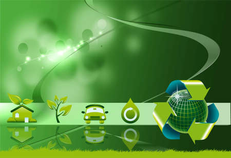 Ecological energies background Stock Photo