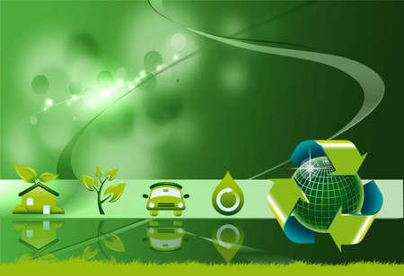 eco house: Ecological energies background Stock Photo