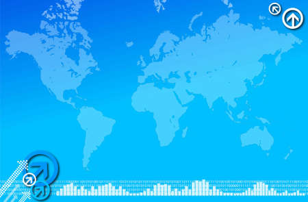 Blue globe map