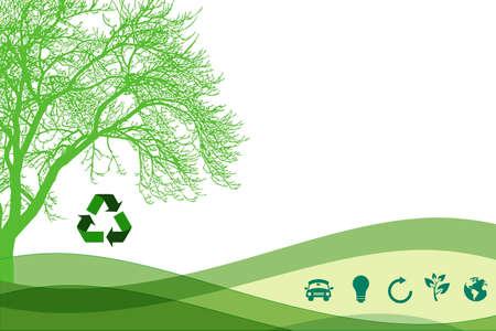 sustainable resources: Ecologic background Stock Photo