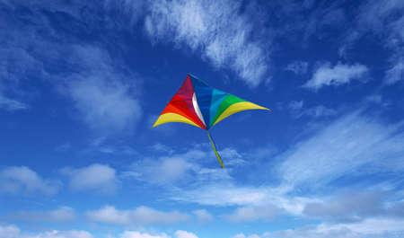 Kite on sky Stock Photo