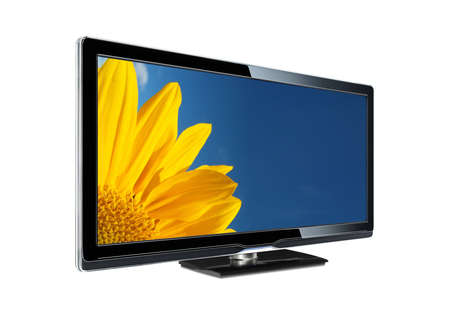 Sunflower in a lcd television. photo