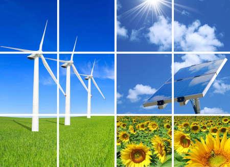 Composition of alternative energies. photo